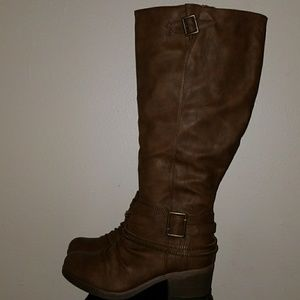 Brown Riding Boots- Wide Calf